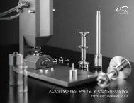 AccessorIes, PArTs, & consumAbLes - TA Instruments