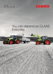 You can depend on CLAAS. Everyday.