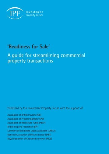 Readiness for Sale - Investment Property Forum