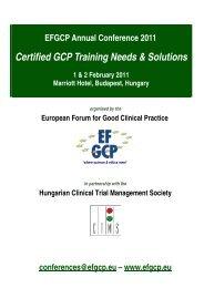 Programme - European Forum for Good Clinical Practice