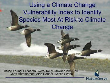 Climate Change Vulnerability Index, Identifying Species most At ...