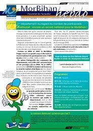MorBihan hebdo n° 132 - Conseil général du Morbihan