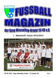 Das erste Fussball-Magazin der Saison 2012/2013