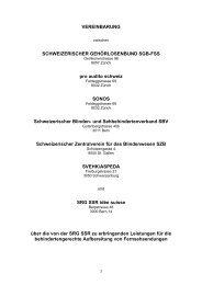 Vereinbarung für die behindertengerechte Aufbereitung ... - SRG SSR