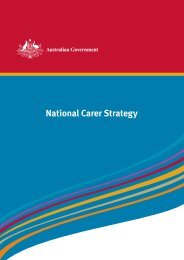 National Carer Strategy - Department of Families, Housing ...