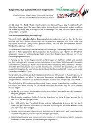 Bürgerinitiative Weickartshainer Gegenwind
