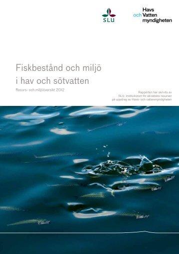Resurs- och miljööversikt 2012 - Havs- och vattenmyndigheten