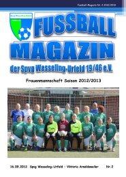 Fussball-Magazin Nr. 2 - Spvg Wesseling-Urfeld
