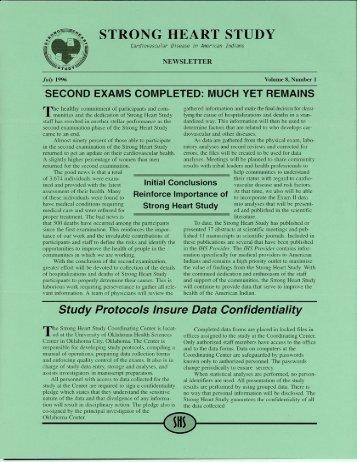 Strong Heart Study - University of Oklahoma Health Sciences Center