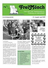 FreiMönch - Ausgabe 23 - Bürgerverein Freiberg und Mönchfeld eV