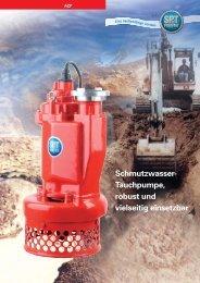 Schmutzwasser- Tauchpumpe, robust und vielseitig einsetzbar