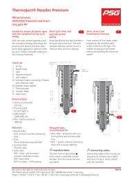 Thermoject® Nozzles Premium - PSG Plastic Service GmbH