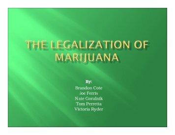Marijuana Legalization Study (PDF) - eRaven