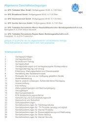 Allgemeine Geschäftsbedingungen gültig ab 21.02.2012 - UPC