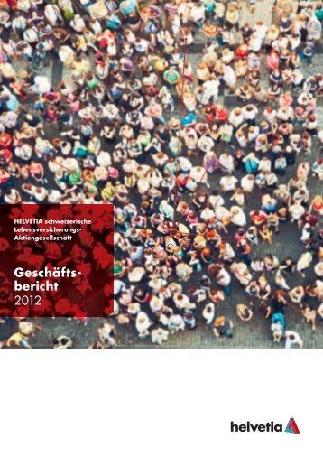 Geschäftsbericht Helvetia Leben 2012