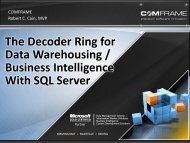 The Decoder Ring for Data Warehousing / Business Intelligence ...