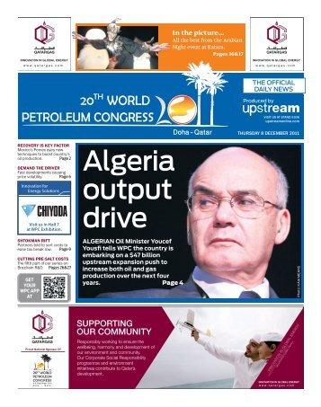 Algeria output drive - World Petroleum Council