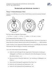 Übung 7 - Fachgebiet Leistungselektronik und Elektrische ...