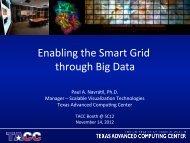 Enabling the Smart Grid through Big Data - Texas Advanced ...