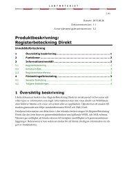 Produktbeskrivning Registerbeteckning Direkt (pdf) - Lantmäteriet