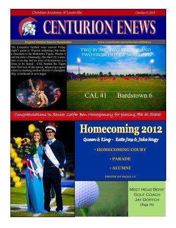 eNews 10/08/12 - Christian Academy School System