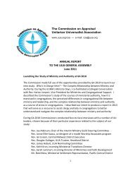 The Commission on Appraisal Unitarian Universalist Association ...
