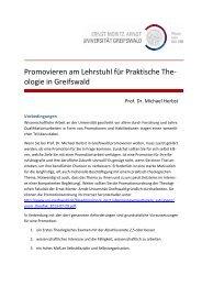 Hinweise zum Promotionsantrag - Theologischen Fakultät der Ernst ...
