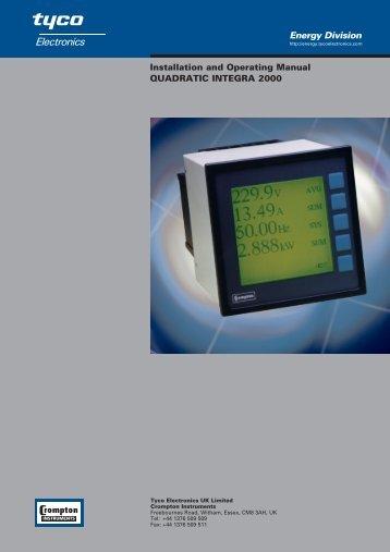 quadratic integra 2000 - Crompton Instruments