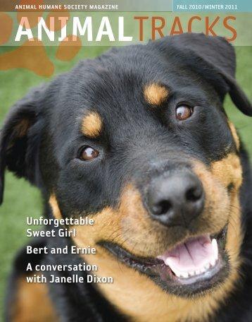 Fall 2010/Winter 2011 - Animal Humane Society
