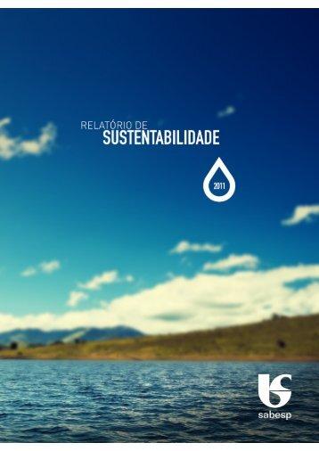 Relatório de Sustentabilidade 2011 - versão português (pdf) - Sabesp