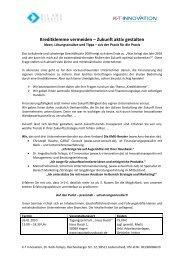 Einladung und Programm - Agentur Mark