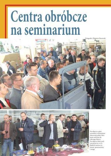 Centra obróbcze na seminarium