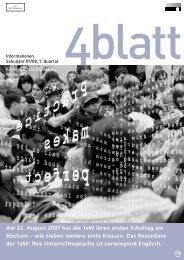 4blatt Nr. 29 - Kantonsschule Büelrain, Winterthur