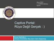 Captive Portal - Ulakbim