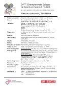 24ème Championnats Suisses de tennis en fauteuil roulant ... - RTCA - Page 2