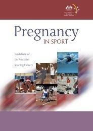 Pregnancy in Sport Guidelines - Australian Sports Commission