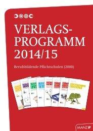 Katalog Berufsschulen 2014/15 - Wissen ist MANZ