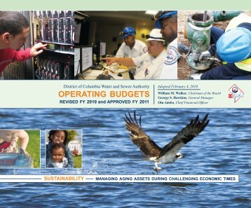 Hist and Proj Operating Receipts FY 2011 2 17 2010 - DC Water