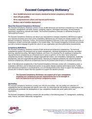 Exxceed Competency Dictionary™ - Pttmedia.com - pttmedia.com