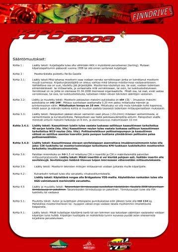 tekniset säännöt - Finndrive