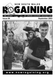 Download full issue in PDF - NSW Rogaining Association