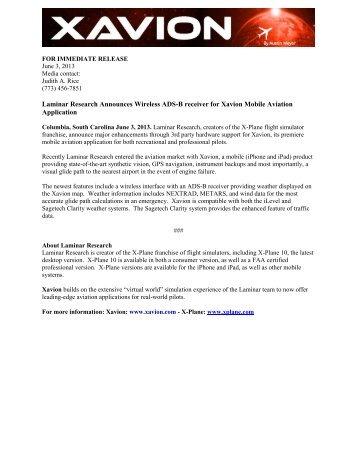 press release - X-Plane.com