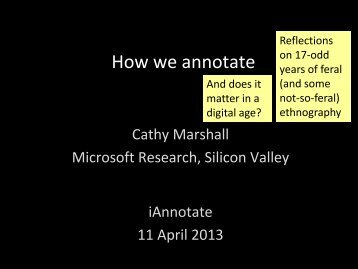 annotation (iAnnotate 2013) - Center for the Study of Digital Libraries