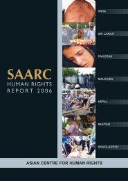 SAARC Human Rights Report 2006 - Gáldu - Resource Centre for ...