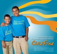 APS Child Find brochure - Atlanta Public Schools