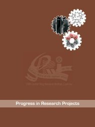 Progress in Research Projects - Central Drug Research Institute