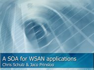 WSAN Service Oriented Architecture