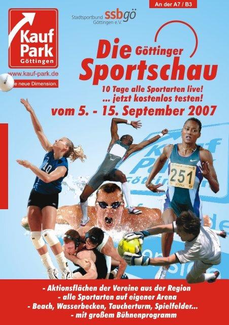 15. September 2007 10 Tage alle Sportarten live! - Stadtsportbund ...