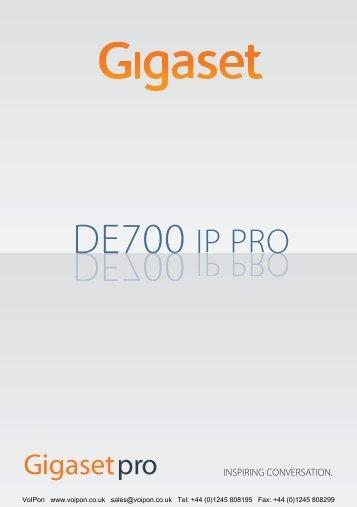 Siemens Gigaset DE700 IP PRO User Manual (PDF)