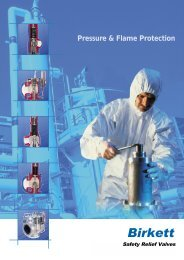 Pressure & Flame Protection - Process Valve Solutions Ltd